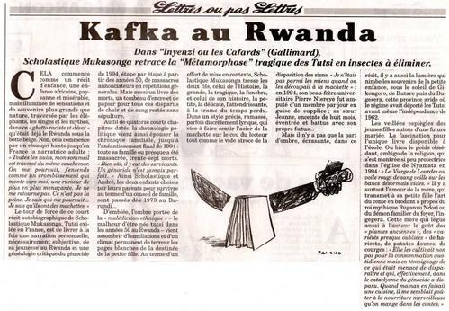 le canard enchain david fontaine 2 ao t 2006 scholastique mukasonga. Black Bedroom Furniture Sets. Home Design Ideas