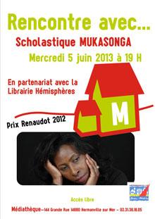 Scholastique Mukasonga à la médiathèque d'Hermanville-sur-Mer