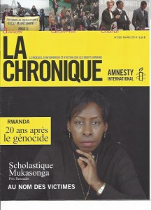 Amnesty International: Rwanda, 20 ans après le génocide - Scholastique Mukasonga