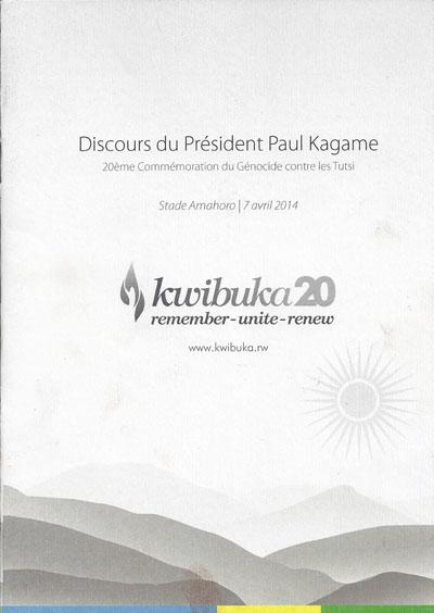 Kwibuka20: Discours du Président Paul Kagame au stade Amahoro à Kigali
