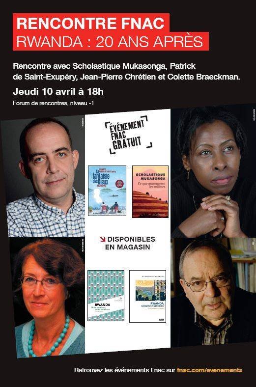 Rwanda : 20 ans après - Fnac Montparnasse
