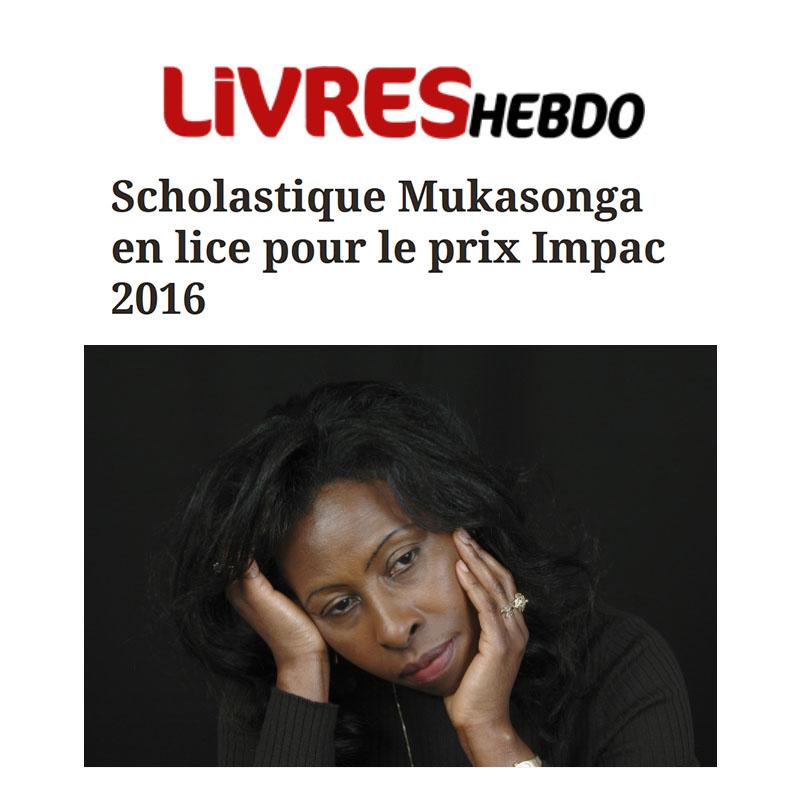 Scholastique Mukasonga en lice pour le prix Impac 2016