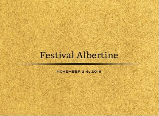 Festival Albertine 2016 du 2 au 6 Novembre