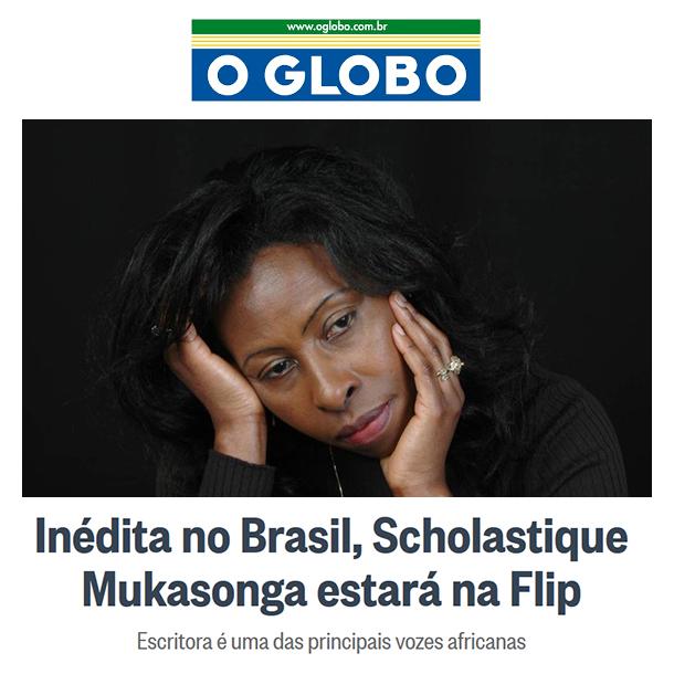 O Globo - newspaper Rio - scholastique mukasonga - rwanda genocide