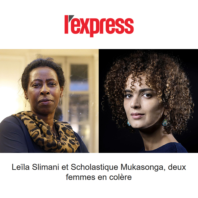 Leïla Slimani et Scholastique Mukasonga, deux femmes en colère  - l'express