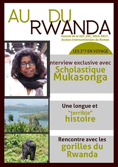 Dans le cadre du projet Graines de critiques littéraires, La classe de 2nde 7 du lycée Les Eaux Claires a lu le roman Notre-Dame du Nil de l'auteure rwandaise Scholastique Mukasonga.