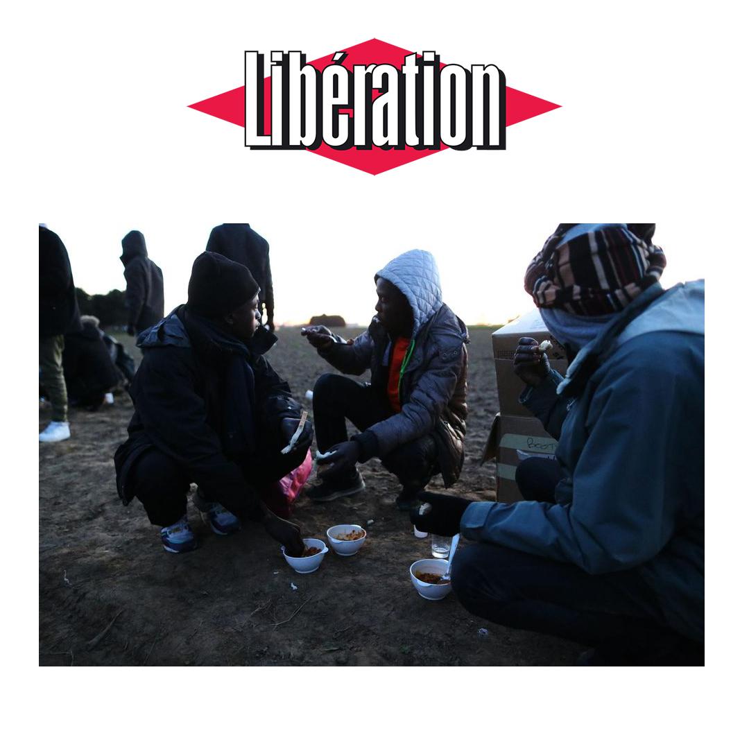 journal libération - Journée internationale des migrants 2017 - Photo Charly Triballeau. AFP