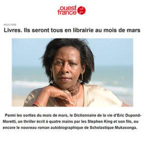Ouest France : Ils seront tous en librairie au mois de mars