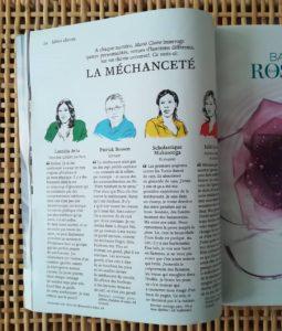 magazine Marie Claire - La méchanceté avec Patrick Besson, Scholastique Mukasonga, laetitia avia