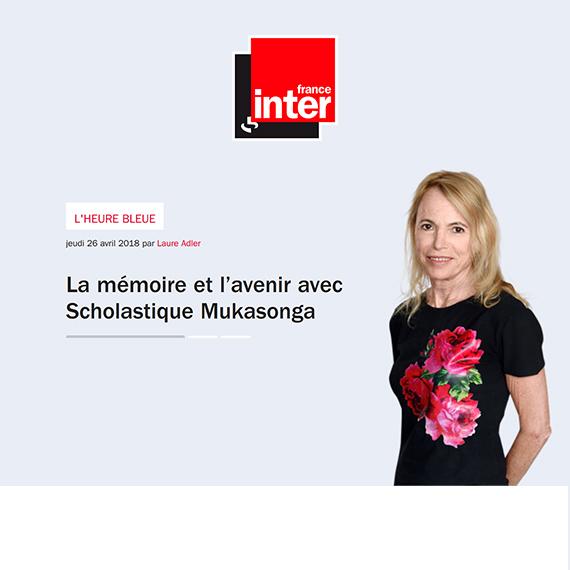 """Laure Adler recevra Scholastique Mukasonga dans """"L'heure bleue"""" sur France Inter"""