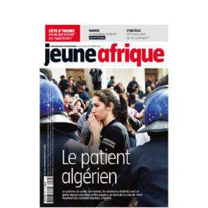 Couverture de l'hebdomadaire Jeune afrique de la smaine du 8 au 15 avril 2018