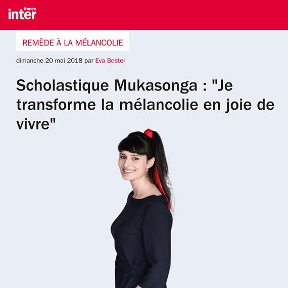 L'émission de France Inter Remède à la mélancolie présentée par Eva Bester invite Scholastique Mukasonga Rwanda