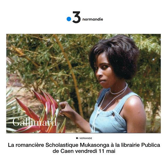 La romancière Scholastique Mukasonga à la librairie Publica de Caen vendredi 11 mai - France 3 Normandie