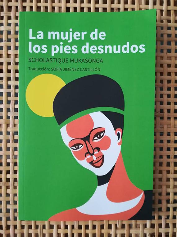 La mujer de los pies des nudos - couverture de la 'La Femme aux pieds nus'  traduit en espagnol et en basque pour le compte de l' UNHCR, agence des Nations Unis pour les réfugiés (Comité du Pays Basque).