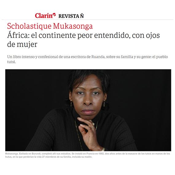 clarin : La mujer descalza par Scholastique Mukasonga - rwanda