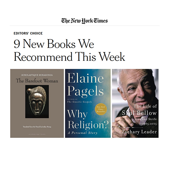 "The New York Yime : ""9 New Books We Recommend This Week."""
